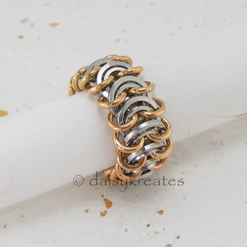 Vertebrae Chainmaille Finger Ring